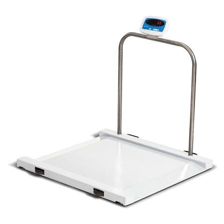 Salter Brecknell MS-1000 Bariatric Electronic Handrail Wheelchair Scale - Medical Chair Scale