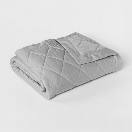 Fieldcrest Soft Plush Chenille Blanket, King, Charcoal Gray - 100% Polyester