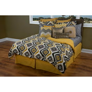 """Rizzy Home Comforter Set 106"""" X 92"""" in Black Color"""