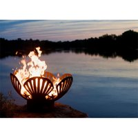 Fire Pit Art BB 36 in. Barefoot Beach Shells and Starfish Fire Pit