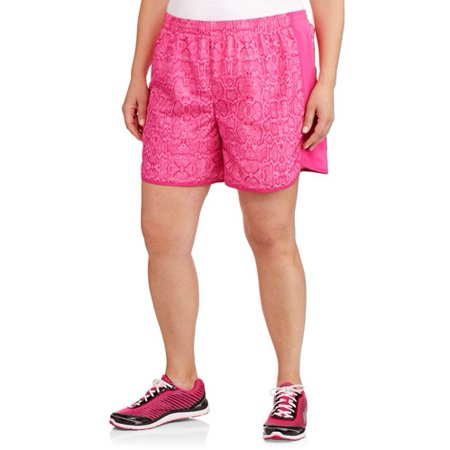 21415598dde Danskin Now Women s Plus-Size Printed Woven Shorts with Liner ...