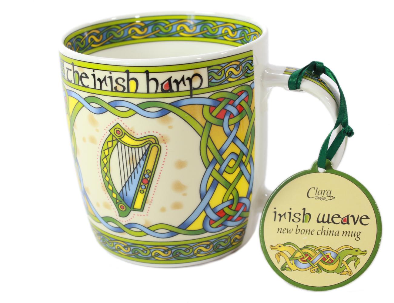 Celtic Mug Harp Design Bone China from Ireland by Royal Tara