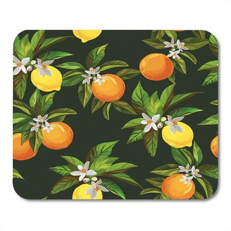 LADDKE Fruit Citrus Pattern Lemons and Oranges Box Vintage Lemonade Bar Cafe Mousepad Mouse Pad Mouse Mat 9x10 inch (Pad Lemonade)