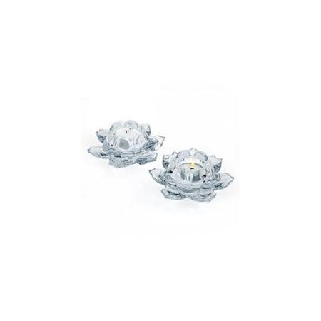 Lotus Crystal Votive Candle Holders Set Of 2