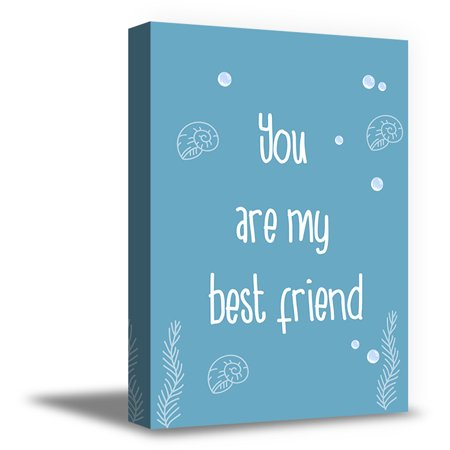 Awkward Styles You Are My Best Friend Canvas Art Motivational Prints Kids Room Wall Art Sea Art Whale Illustration Inspirational Quotes Newborn Baby Room Wall Decor Sea Wallpapers Made in (Best Wallpaper For Iphone 5 White)