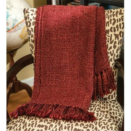 Charlotte Home Furnishings WW-8727-12240 Gold Thread Red Afghan Throw - image 1 de 1