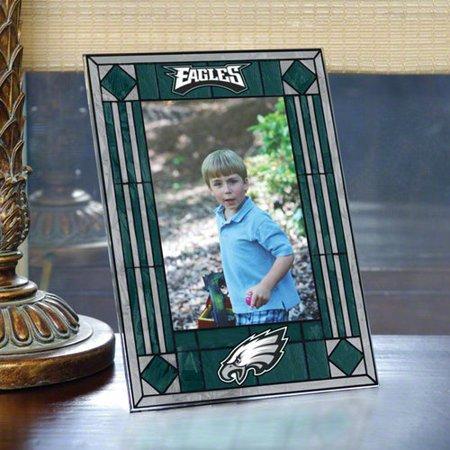 Philadelphia Eagles Portrait Art Glass Picture Frame - Walmart.com