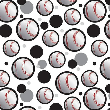 Premium Sports Patterns (Baseball Ball Sport American National Black Premium Gift Wrap Wrapping Paper Roll)