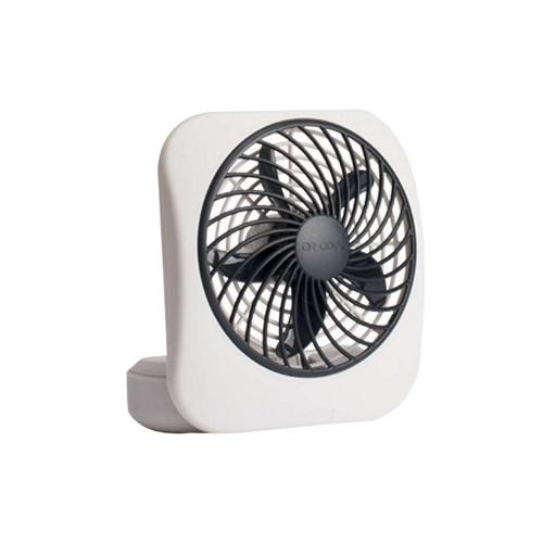 O2 Cool 5-Inch Portable Fan (2-D Batteries) - 127 mm Diameter - 2 Speed - Carrying Handle, Adjustable Tilt Head, Foldabl