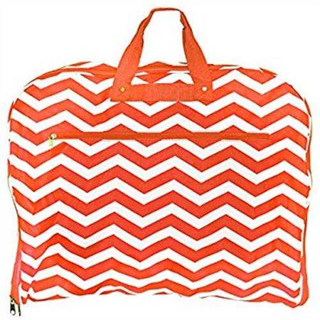 d13dbb759ca9 World Traveler 40 Inch Hanging Garment Bag, Orange White Chevron, One Size