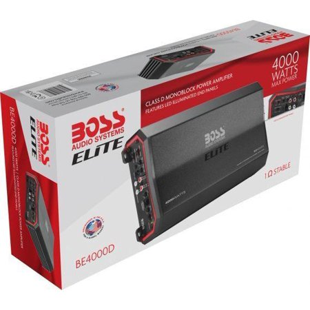 Boss Audio Systems 4000 Watt Class D Amplifier with Remote Subwoofer Control Audio System Amplifier