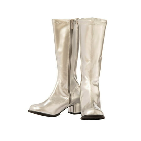 Child GoGo Boot Silver Halloween Costume Accessory - Puss In Boots Costume For Kids