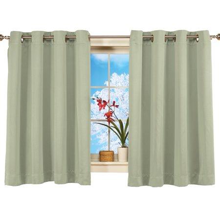 Short Blackout Window Curtain Panel Energy Efficient