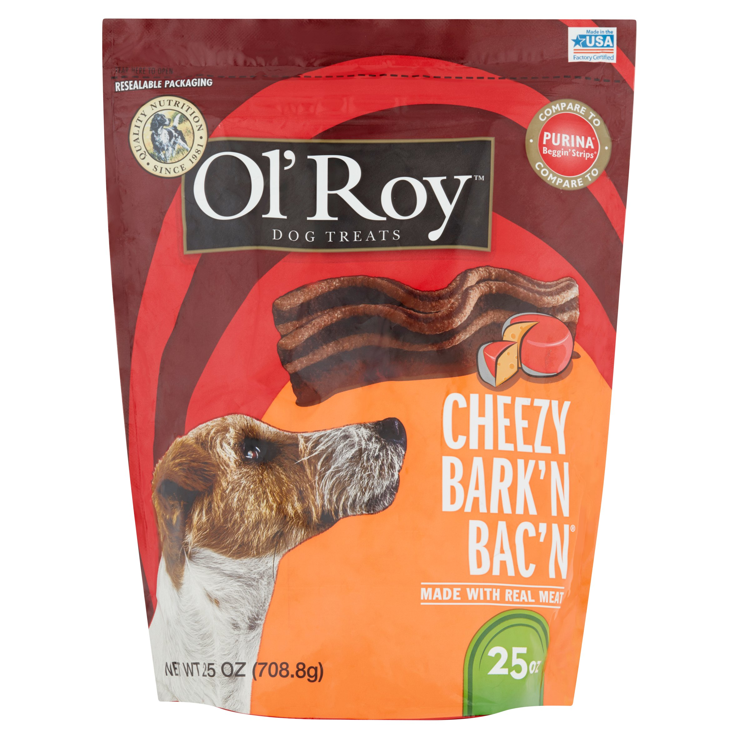 Ol\' Roy 25-Ounce Cheezy Bark\'N Bac\'N Treats