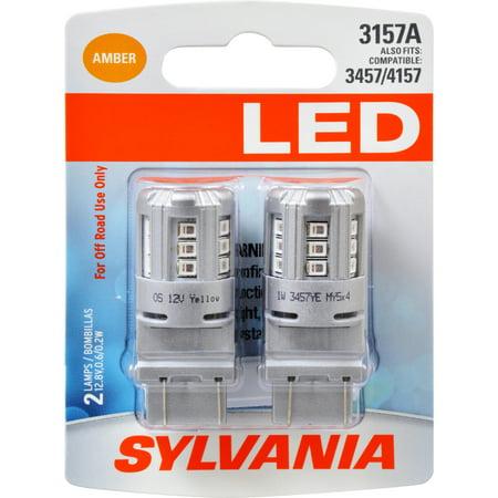 2 Amber Led (SYLVANIA 3157A AMBER SYL LED Mini Bulb Mini Bulb, Pack of 2)