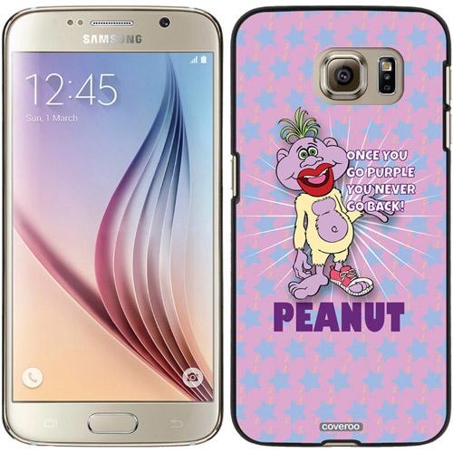 Peanut Go Purple Design on Samsung Galaxy S6 Snap-On Case