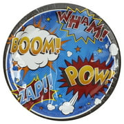 Superhero Slogans 9 Inch Lunch/Dinner Plates (8 ct)