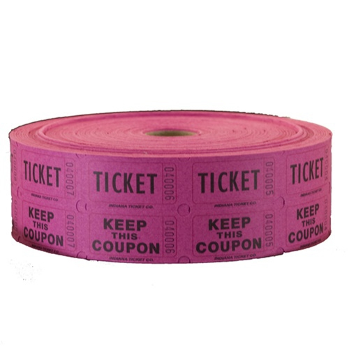 Raffle Tickets - Double Roll Magenta