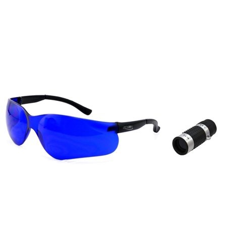 POSMA SGG-040B Golf Ball Finder Hunter Retriever Glasses + Golf Rangefinder High Definition Mini Monocular Pocket Scope