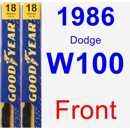 1986 Dodge W100 Wiper Blade Set/Kit (Front) (2 Blades) - Premium