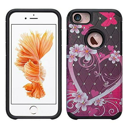 Apple iPhone 8 Plus Case Cover, Slim Hybrid Dual Layer Crystal Case Cover for iPhone 8 Plus - Colorful Tree - image 1 de 1