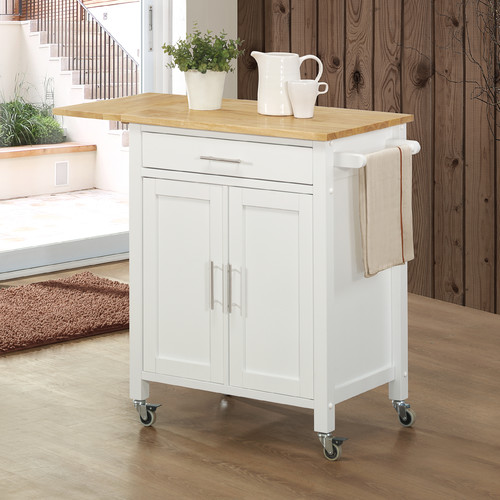 Sunset Trading Kitchen Island with Butcher Block Top