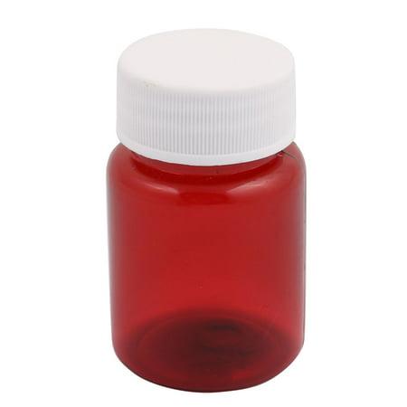 5Pcs 60ml Plastic Wide Mouth Lab Reagent Bottle Sample Sealling Thicken Bottle - image 1 de 3