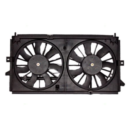 Cooling Fan Assembly for 00-03 Chevrolet Impala Monte Carlo Dual Radiator & AC A/C Condenser 19130418 (A/c Condenser Radiator Fan)