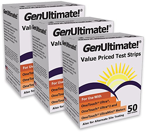 GenUltimate!® Test Strips 3 box (150 ct) for your OneTouch® Ultra® Meters