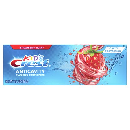 Crest Kid's Anticavity Cavity Protection Fluoride Toothpaste, Strawberry Rush, 4.2 oz