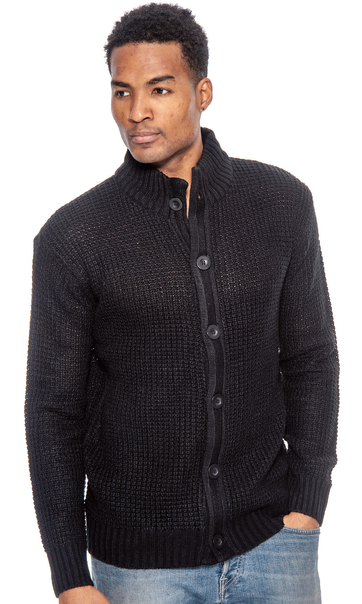 TR Men/'s Knit Placket Sweater by 9 Crowns Essentials