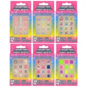 Kids' Plastic Press on Nail Sets-You will receive 6 Assorted packages of Nail Sets based on our inventory at the time.