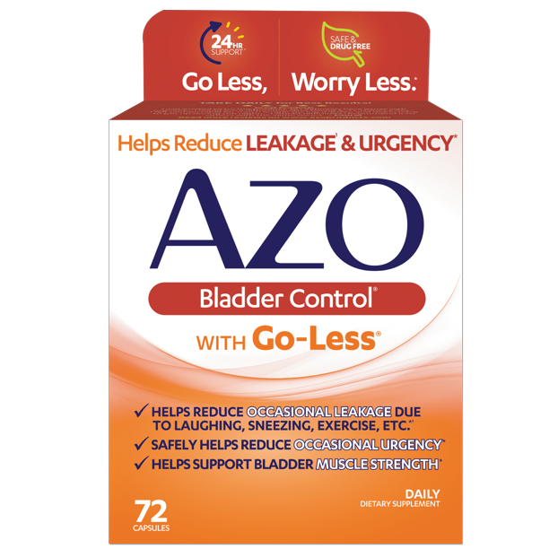 AZO Bladder Control with Go-Less, Helps Reduce Occasional Urgency, 72 ct