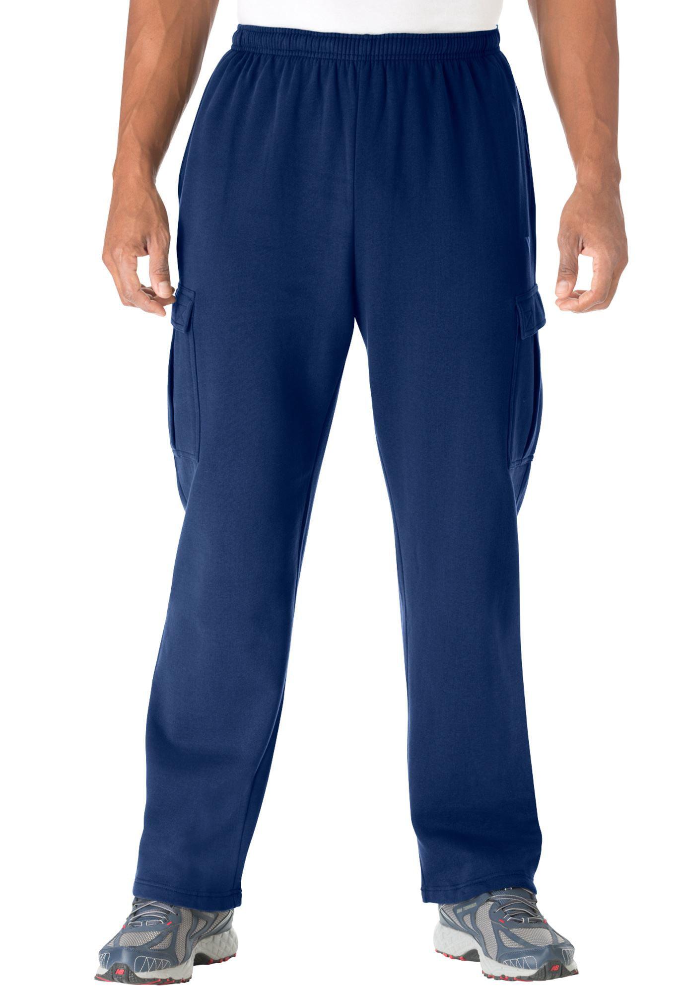 Men's Big & Tall Wicking Fleece Cargo Pants By Ks Sport