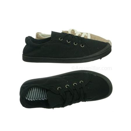 29d3d15d3 Comfort01 by Forever Link, Vintage Flexible Rubber Sneaker - Women Canvas  Comfort Bendable Shoes