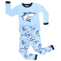 Elowel  Boys Shark Cotto 2-piece Pajama Set