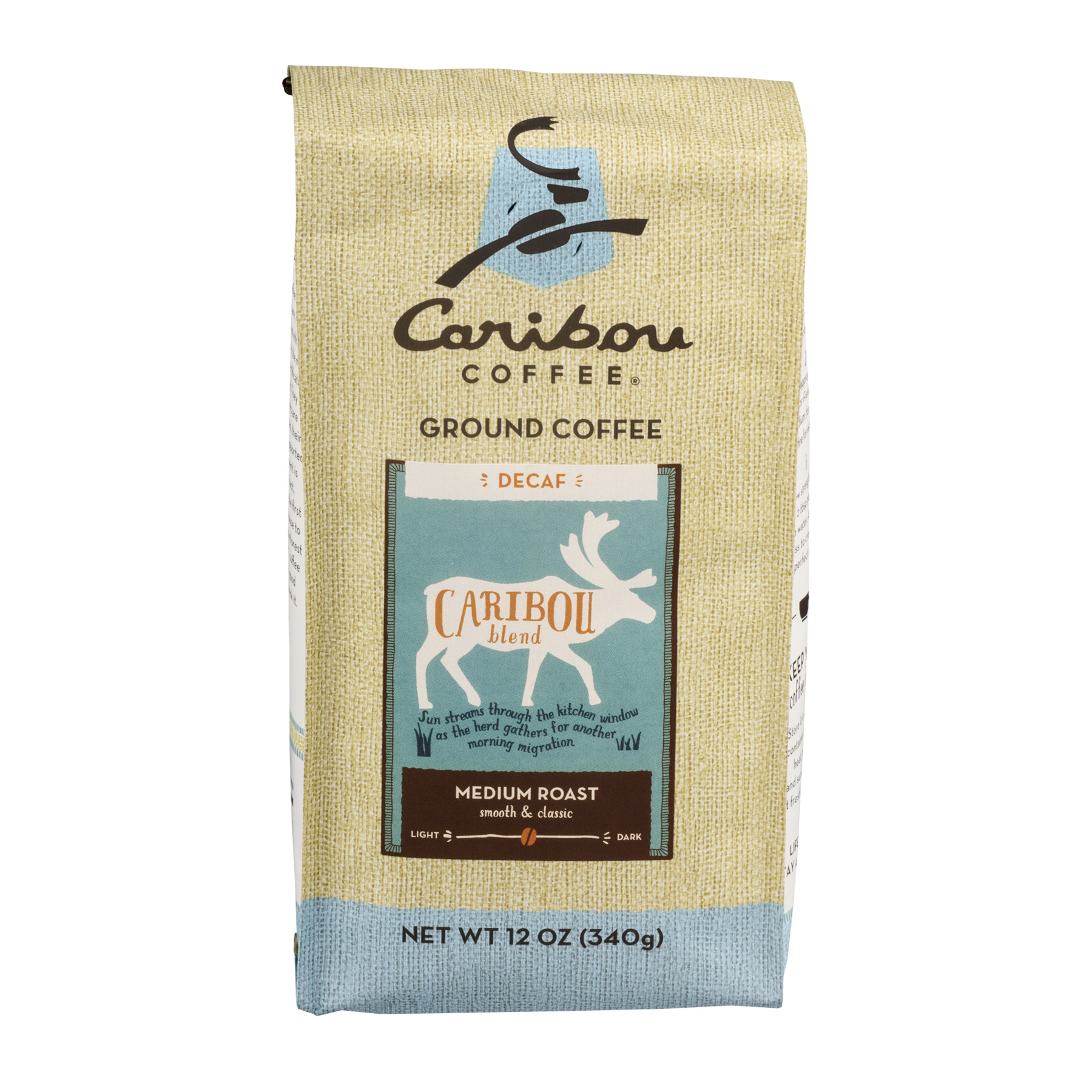 Caribou Coffee Ground Decaf Caribou Blend Medium Roast, 12.0 OZ