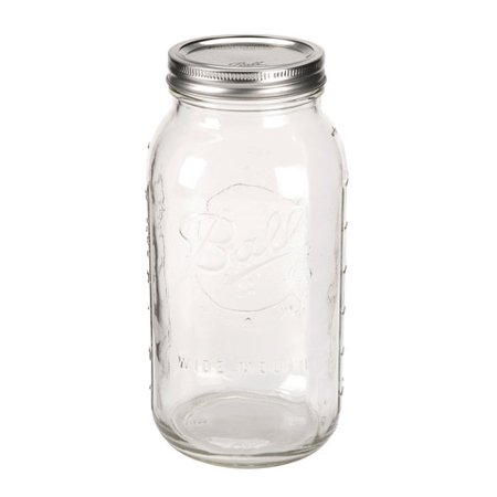 Ball Mason Jars: Glass, 64 oz, 6 (Hi Ball Glassware)