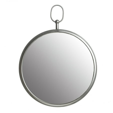 Silver Round Wall Mirror with Decorative Handle 17