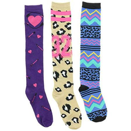 31b2ebc06 Chatties - Chatties Women s Crazy Novelty Knee High Socks (3 Pr) (Purple  Hearts
