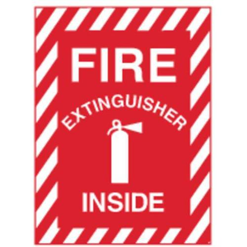 ZING 1890S Fire Sign,10inH,Fire Extinguisher Inside G1825735