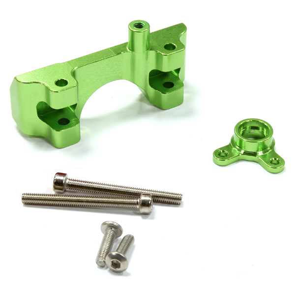Integy RC Toy Model Hop-ups C25453GREEN Billet Machined Alloy Front Shock Mount for... by Integy