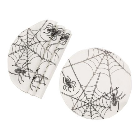 The Holiday Aisle Shellson Halloween Spider Web 16'' Placemat (Set of 4) (Halloween Placemats Target)