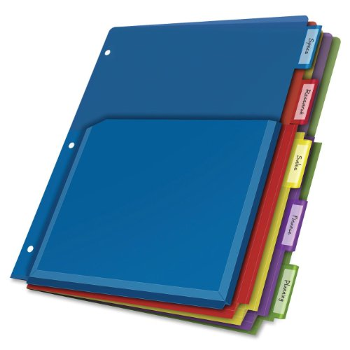 Poly Expanding Pocket Index Dividers, 5-Tab, Letter