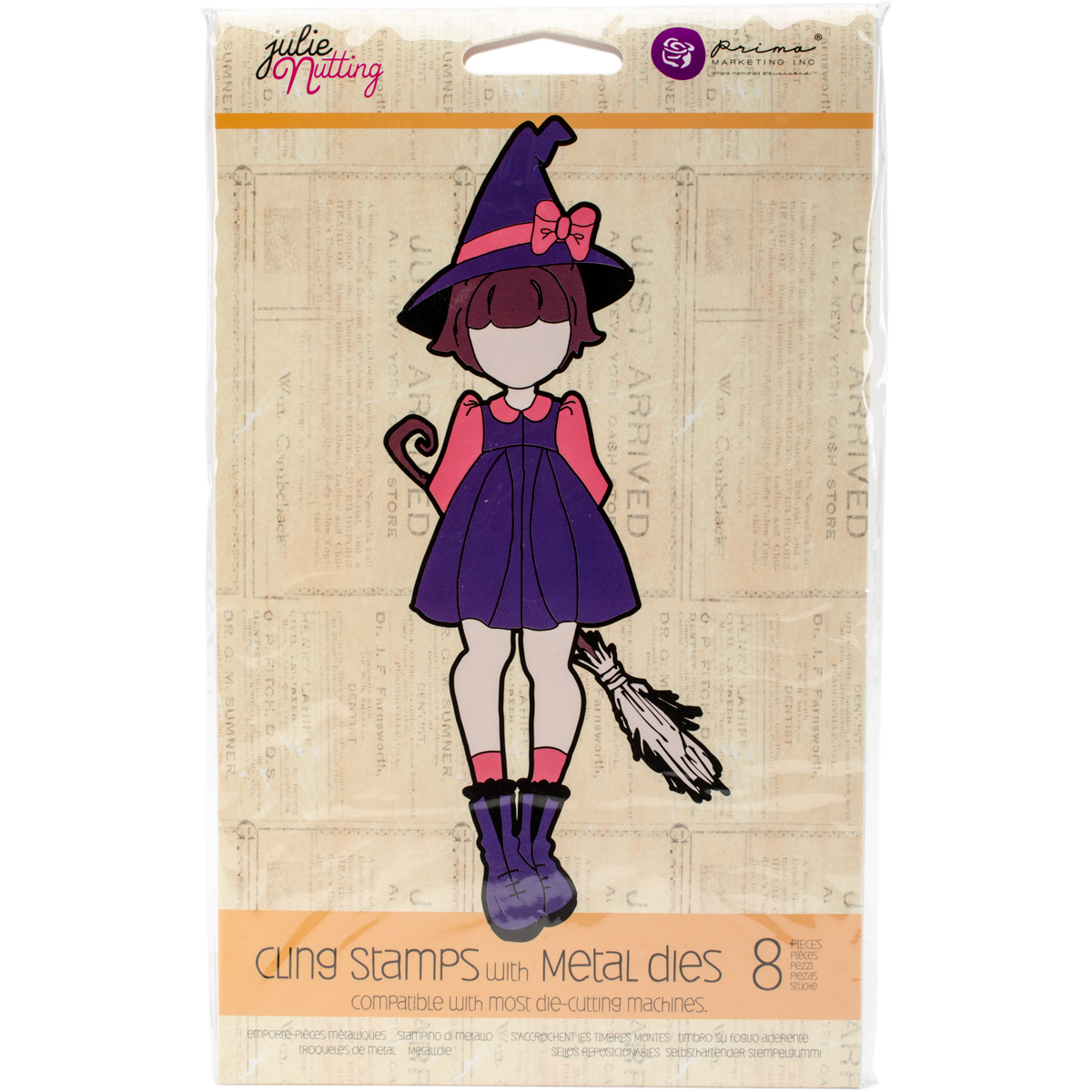 Julie Nutting Stamp & Die Set-Lil' Witch