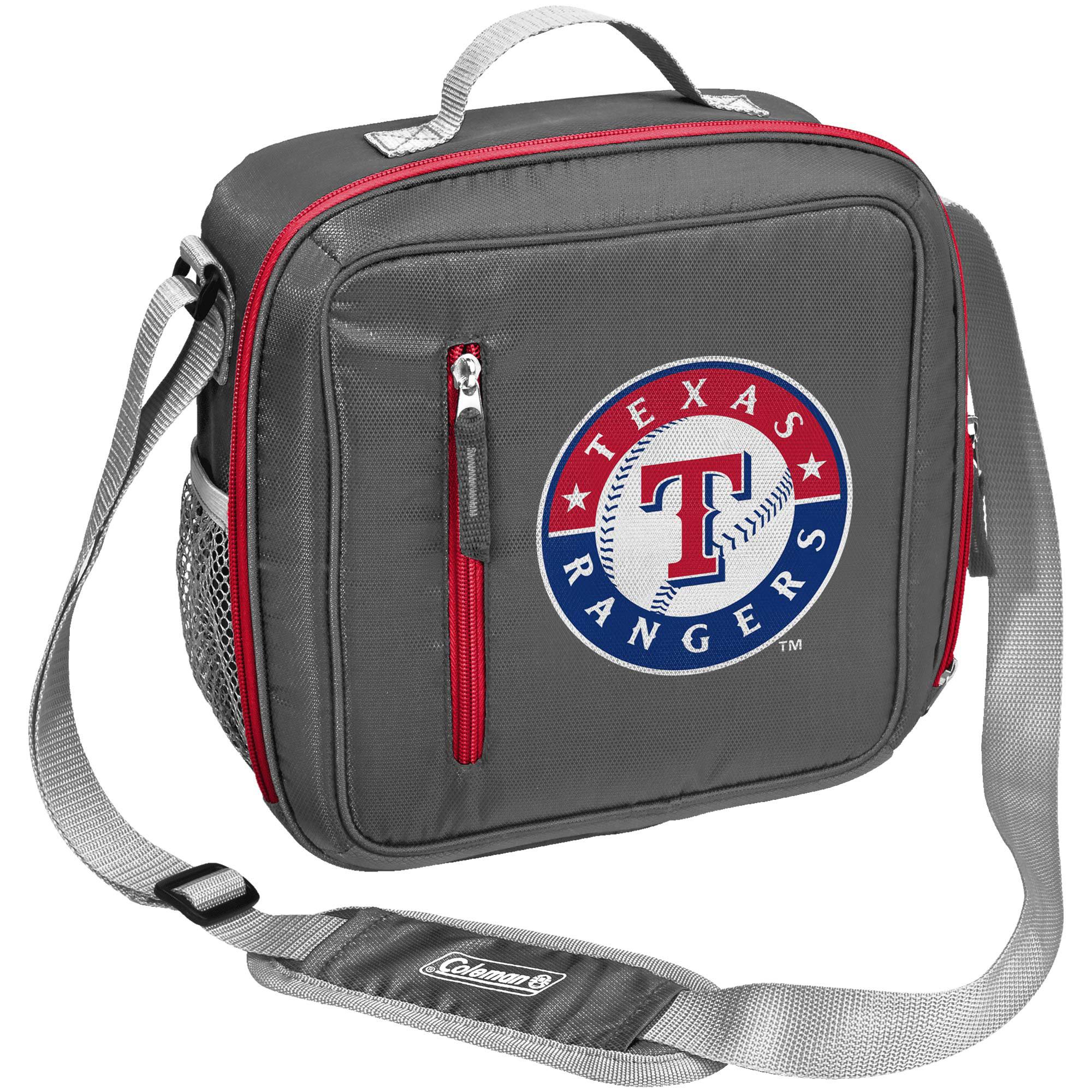 Texas Rangers Coleman Team Logo Messenger Cooler - No Size