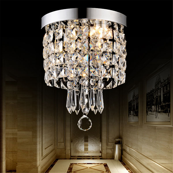 Elegant Chandelier Crystal Lamp Light Ceiling Pendant Mount Fixture Home Decor