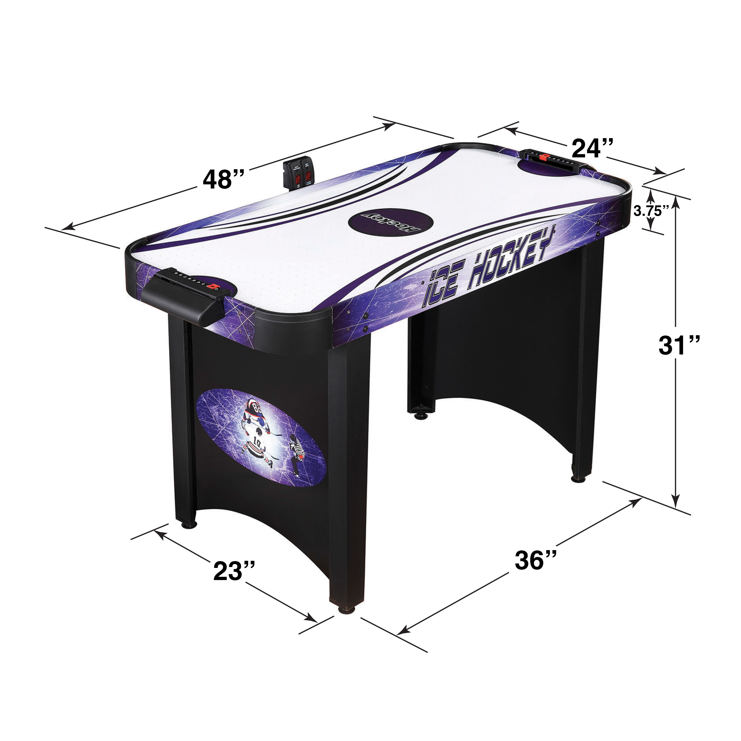 Hathaway Hat Trick 4 Ft Air Hockey Table