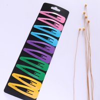 Fancyleo 10pcs / pack Summer Rainbow Hair Clips for Women BB Barrette Headband Hair Clip Simple Styling Accessories