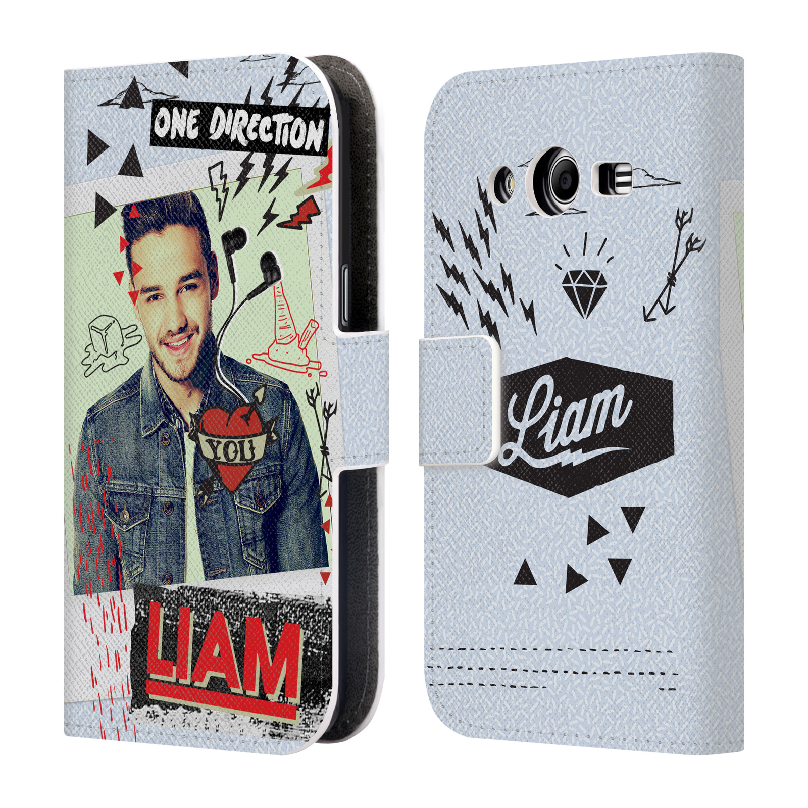 OFFICIAL ONE DIRECTION MIDNIGHT MEMORIES SHOTS LIAM LEATHER BOOK WALLET CASE COVER FOR SAMSUNG PHONES 3